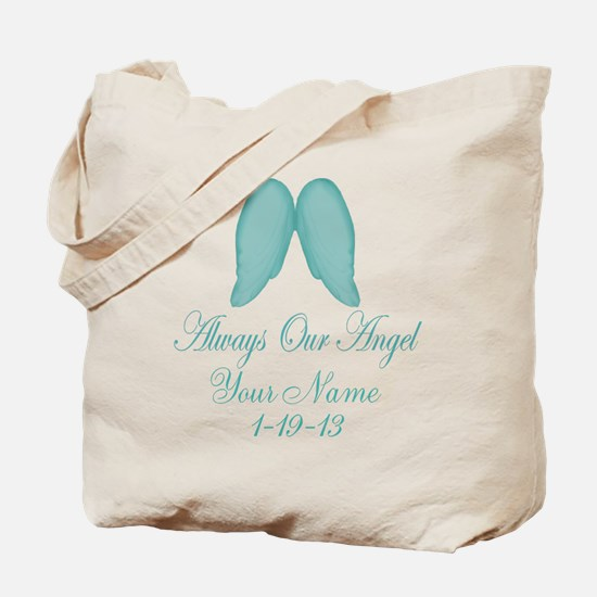 Always Our Angel Blue Tote Bag