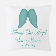 Always Our Angel Blue Woven Throw Pillow