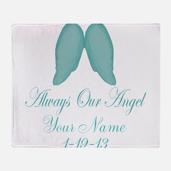 Always Our Angel Blue Throw Blanket