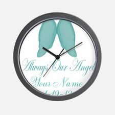Always Our Angel Blue Wall Clock