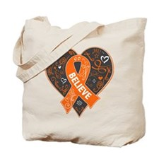 Leukemia Believe Tote Bag