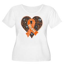 Leukemia Believe Plus Size T-Shirt