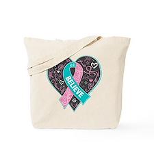 Hereditary Breast Cancer Believe Tote Bag