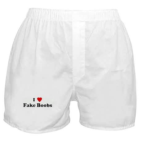 I Love Fake Boobs Boxer Shorts