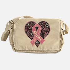 Breast Cancer Believe Messenger Bag
