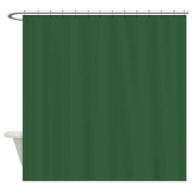 Solid Hunter Green Shower Curtain by Admin_CP11861778