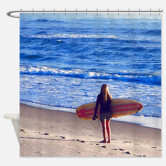 Surfer Girl Shower Curtain