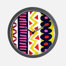 Vertical Zig Zags And Stuff Wall Clock