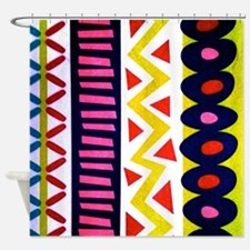 Vertical Zig Zags And Stuff Shower Curtain