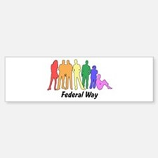 Federal Way diversity Bumper Bumper Bumper Sticker