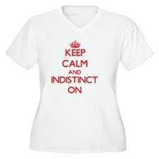 Keep Calm and Indistinct ON Plus Size T-Shirt