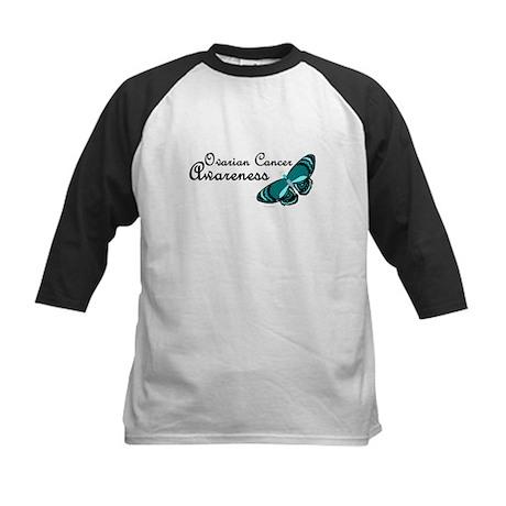Teal Butterfly 3 (OC) Kids Baseball Jersey