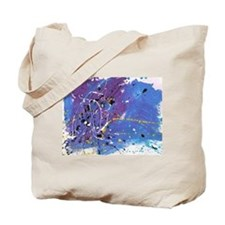 Blue Pollock-Style Painting Tote Bag