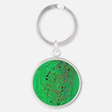 Green Pollock-Style Keychains