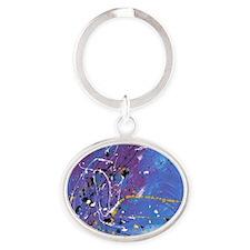 Blue Pollock-Style Keychains