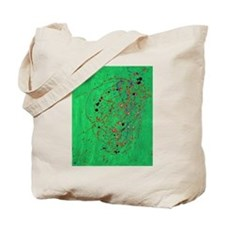 Green Pollock-Style Painting Tote Bag