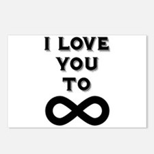 I Love You To Infinity Postcards (Package of 8)