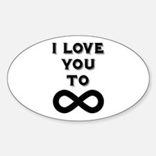 I Love You To Infinity Decal