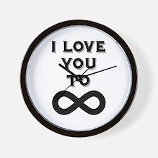 I Love You To Infinity Wall Clock