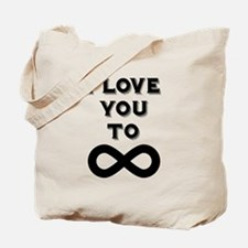 I Love You To Infinity Tote Bag