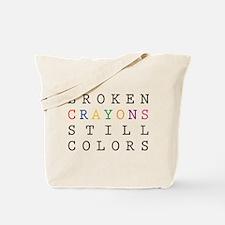 Broken Crayon still colors Tote Bag