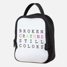 Broken Crayon still colors Neoprene Lunch Bag