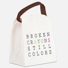 Broken Crayon still colors Canvas Lunch Bag