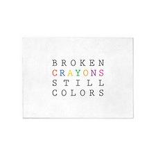 Broken Crayon still colors 5'x7'Area Rug
