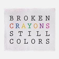 Broken Crayon still colors Throw Blanket