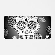 Funny sugar skull Aluminum License Plate
