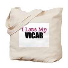 I Love My VICAR Tote Bag