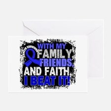 Anal Cancer Survivor FamilyFriendsFa Greeting Card