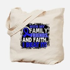 Anal Cancer Survivor FamilyFriendsFaith Tote Bag