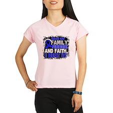 Colon Cancer Survivor Fami Performance Dry T-Shirt