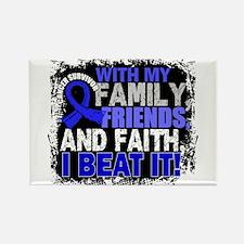Colon Cancer Survivor FamilyFrien Rectangle Magnet