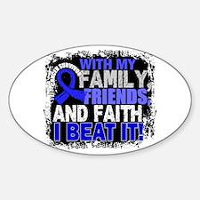 Colon Cancer Survivor FamilyFriends Decal