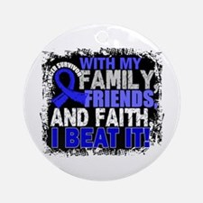 Colon Cancer Survivor FamilyFrien Ornament (Round)