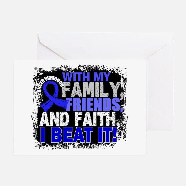 Colon Cancer Survivor FamilyFriendsF Greeting Card
