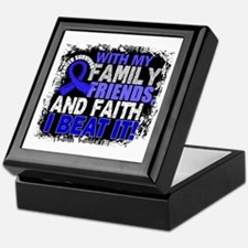 Colon Cancer Survivor FamilyFriendsFa Keepsake Box