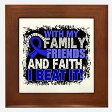 Colon Cancer Survivor FamilyFriendsFai Framed Tile