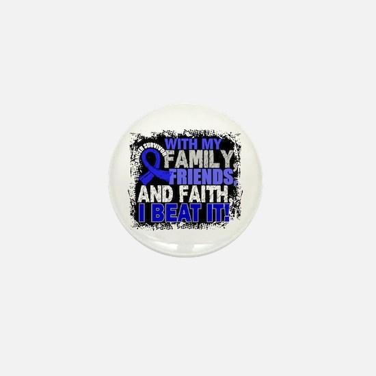Colon Cancer Survivor Family Mini Button (10 pack)