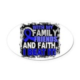 Colon cancer Oval Car Magnets