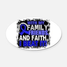 Colon Cancer Survivor FamilyFriend Oval Car Magnet