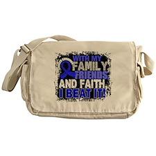 Colon Cancer Survivor FamilyFriendsF Messenger Bag