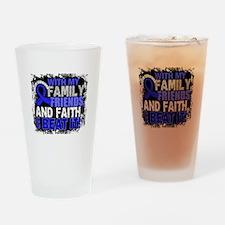 Rectal Cancer Survivor FamilyFriend Drinking Glass