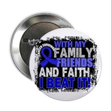 "Rectal Cancer Survivor FamilyFriendsF 2.25"" Button"