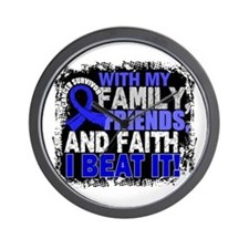Rectal Cancer Survivor FamilyFriendsFai Wall Clock