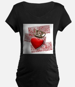 Love is the King Maternity T-Shirt