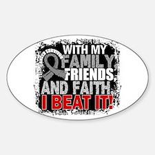Brain Cancer Survivor FamilyFriends Sticker (Oval)