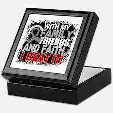 Brain Cancer Survivor FamilyFriendsFa Keepsake Box